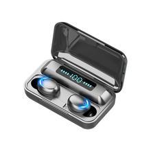 KUGE TWS Bluetooth 5 0 słuchawki 2200mAh etui z funkcją ładowania słuchawki bezprzewodowe 9D Stereo słuchawki sportowe słuchawki z mikrofonem tanie tanio Inne Bezprzewodowy + Przewodowe