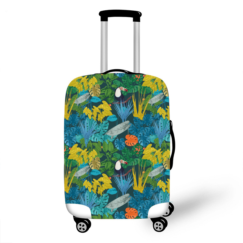 Elastic Luggage Protective Cover Case For Suitcase Protective Cover Trolley Cases Covers 3D Travel Accessories Parro Pattern 100