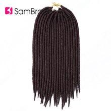 SAMBRAID прямо искусственные локоны в стиле Crochet волосы 14 дюймов мягкие дреды, накладные волосы на заколке для оплетки синтетические пряди для вплетения в волосы плетение волос 60 г/упак