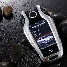 جديد سيارة من سبيكة الألومنيوم LED عرض حقيبة غطاء للمفاتيح ل BMW 5 7 سلسلة G11 G12 G30 G31 G32 i8 I12 I15 G01 X3 G02 X4 G05 X5 G07 X7