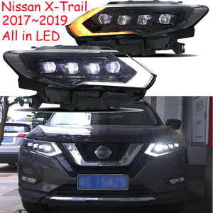 Image 5 - 2Pcs 2017 ~ 2019yรถBupmer Head LightสำหรับNissan X Trailไฟหน้าRogue X Trail Xtrailรถอุปกรณ์เสริมLEDหมอกX Trailไฟหน้า