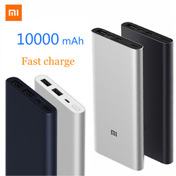10000 mah xiao mi mi banco de potência 3 banco de bateria externa rápido 2 maneira carga rápida powerbank 10000 mah dupla saída usb 2 mi cro tipo-c