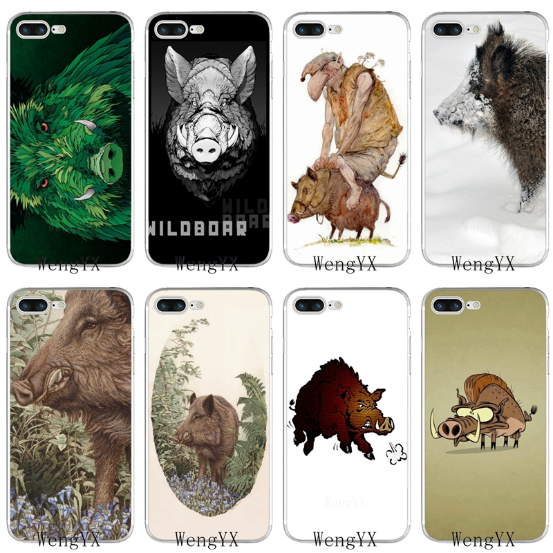 Phone-Case Wild Boar Note-7 Xiaomi Redmi Silicone Animal 5A For Note-7/6-5/5a/.. F1 Poster