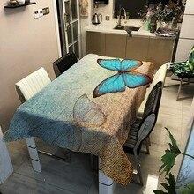 Butterfly Flower Pattern Tablecloth…