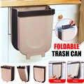 Falten Papierkorb Küche Schrank Tür Hängen Müll Können Wand Montiert Müllabfallbehälter für Bad Wc Abfall Lagerung