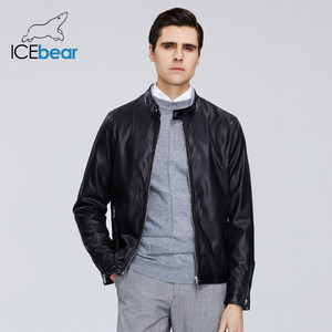 ICEbear 2020 New Men's Leather Jacket Men's Spring Coat Stylish Casual Men's Jacket High-quality Men's Clothing MWP20001D