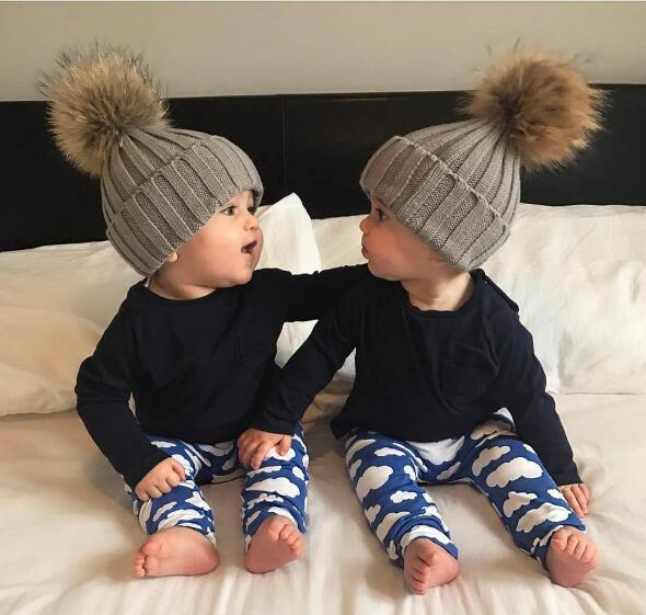 Autumn and Winter Hats Children Beanie Wool Knitted Hat Hair Ball Cap 0 3 Years Old Baby Keeping Warm Lovely Boy Girl Ear Caps in Men 39 s Skullies amp Beanies from Apparel Accessories