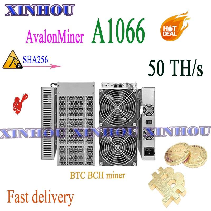 BTC BCH Miner Avalon A1066 50T SHA256 Asic Miner Better Than AvalonMiner 1066 M21S M20S M3 AntMiner S17+ S17e T17+ T17e T2T T3