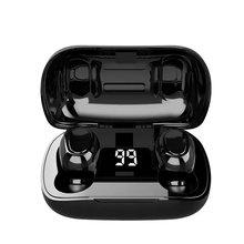 L21 pro tws fone de ouvido estéreo sem fio led display digital esporte fones para oppo huawei iphone xiaomi bluetooth