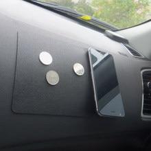 Tapis d'ornement antidérapant en Silicone pour voiture, tableau de bord automobile, Double face, antidérapant, pour téléphone, support de lunettes de soleil, accessoires
