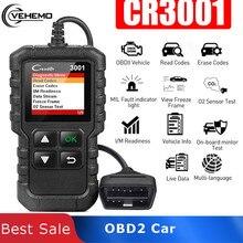 Vehemo OBD2 Car Fault Scanner Car Stable Scan Tool Erase Diagnostic for Automotive Creader Code Read