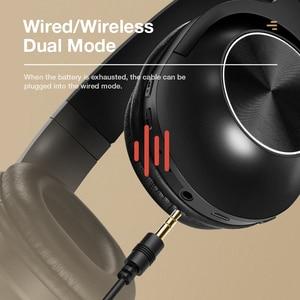 Image 5 - SANLEPUS سماعة رأس بلوتوث لاسلكية ، سماعة رأس استريو محمولة مع ميكروفون للموسيقى لأجهزة iPhone و Samsung و Xiaomi