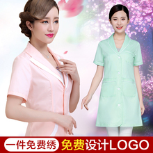 Beauty salon overalls summer cosmetologist short-sleeve drugstore nurse female