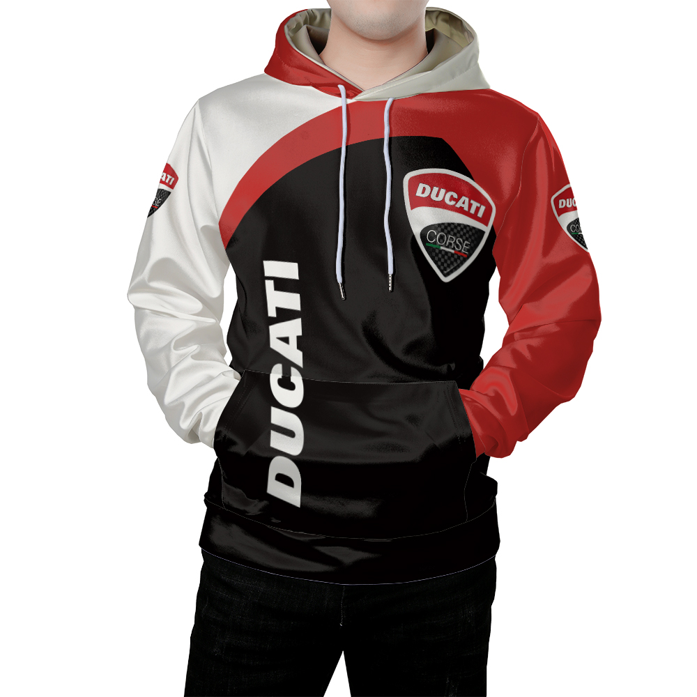 Ducati  Hoodie  3 D Printed Motocycle Fan  Clothes For Autumn Summer  Moto Riding Sun Wind Protect