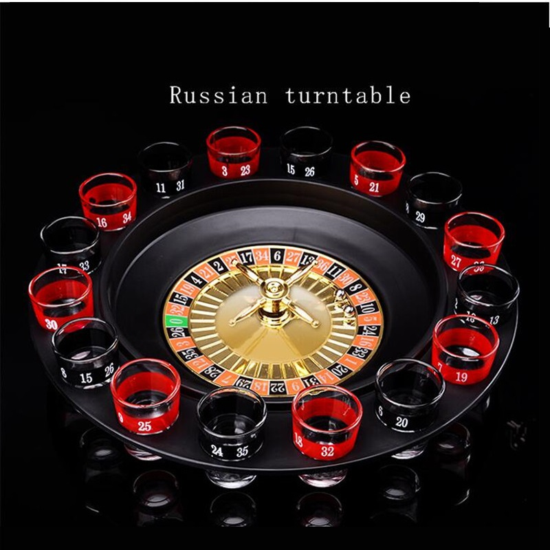Drinking Roulette Shot Party Game Stag Hen Glass Adult Gift 16 Glasses Night