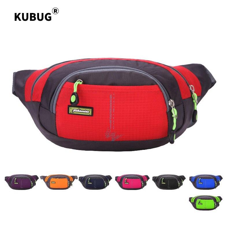 KUBUG Waist Bag Outdoor Running Bag Pack Travel Phone Belt Bag Pouch For Men Women Casual Shoulder Crossbody Bag Unisex Hip Bag