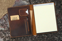 Vintage Leather Large Legal Pad Document Portfolio Writing Case / Refillable Leather Organizer Notebook Cover Case NA4005S
