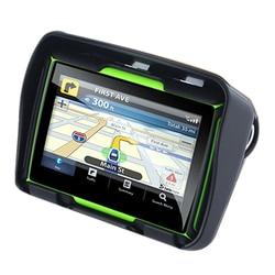 Zaktualizowano 256M Ram 8Gb Flash 4.3 Cal Moto nawigacja Gps wodoodporna Bluetooth motocykl Gps nawigacja samochodowa