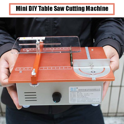 120W Aluminum Miniature Table Saw Machinery High Precision 220V 10000RPM Portable DIY Wood Cutting Desktop Buddha Beads Polish