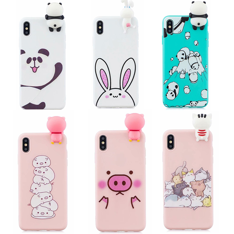 For <font><b>Xiaomi</b></font> 8 F1 4A 4X 5X 6X 3D Cartoon Silicone phone back Cover on for <font><b>Redmi</b></font> 5 5plus <font><b>6</b></font> 6A S2 Note 5A 6PRO 7 7A K20 case fundas image