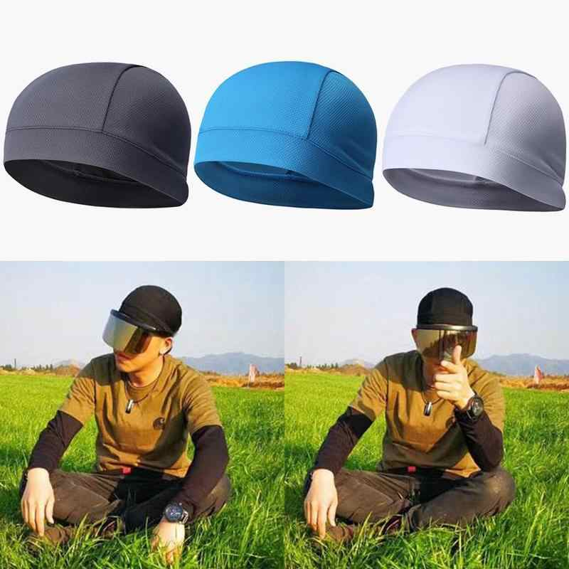 queenland Sweat Wicking Dew Rag Beanie Helmet Liner Cooling Skull Cap Quick Dry Adjustable Hat Head Wrap for Mens Women Outdoor Sport Cycling Riding Camping Motorcycling Trekking