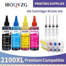 IBOQVZG для PGI2100 2100 BK C M Y Чернила + многоразовый картридж с чипом для принтера Canon 1200 XL MAXIFY MB5310 Ib4010