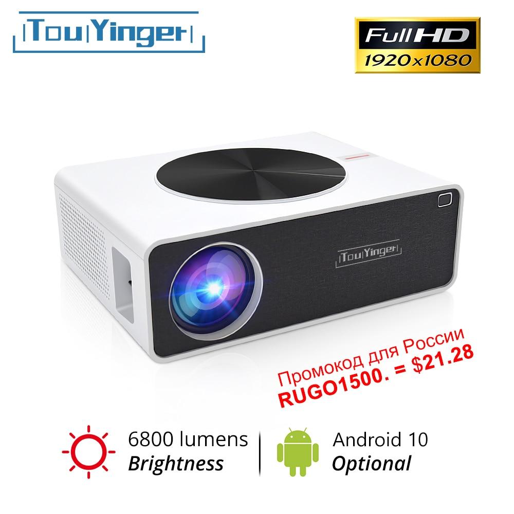 Touyinger q9 led cinema em casa 1080p projetor de vídeo completo hd 6800 lumens (android 10.0 wifi bluetooth opcional) lcd filme beamer