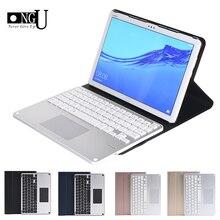 Teclado táctil Bluetooth para Huawei MediaPad M5 Lite 10 10,1 BAH2 W19/L09/W09 funda de teclado de tableta desmontable soporte de la cubierta