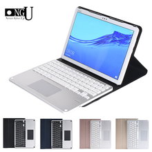Touchpad Bluetoooth Keyboard For Huawei MediaPad M5 Lite 10 10.1 BAH2 W19/L09/W09 Detachable Tablet Keyboard Case Cover Stand