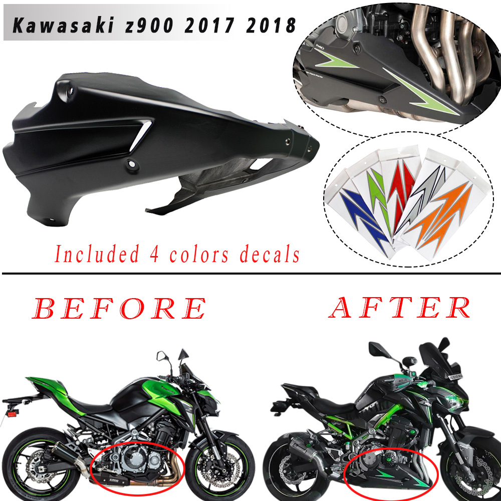 Motorcycle Z900 Bellypan Belly Pan Engine Spoiler Fairing ABS plastic Body Frame Kit Lower Panel for <font><b>Kawasaki</b></font> <font><b>Z</b></font> <font><b>900</b></font> <font><b>2017</b></font> 2018 image