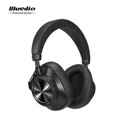 Original Bluedio T7 Plus Bluetooth Headphones ANC Wireless Headset HIFI Sound Step Counting Touch Control Headsets H2