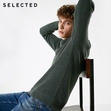 SELECTED jerseys de mezcla de Cachemira de invierno para hombre, ropa, suéter informal de punto con cuello redondo S