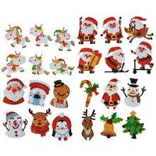 Diamond-Painting-Sticker Christmas-Stickers Round Diamond Diy Kids Full-Drill Animal-Pattern