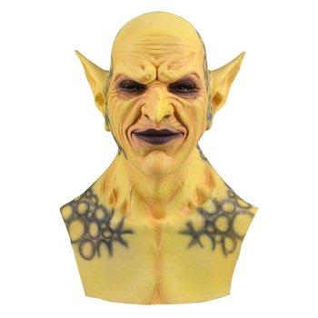 New Halloween Devil Clown Vampire Mask Yellow Goblins Mask Halloween Horror Mask Creepy Costume Party Cosplay Props new halloween devil clown vampire mask yellow goblins mask halloween horror mask creepy costume party cosplay props