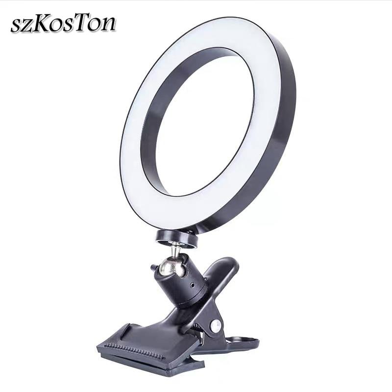 26 см/16 см переносной светодиодный светильник для селфи с кольцом для Youtube потокового видео Студийный светильник с регулируемой яркостью для...