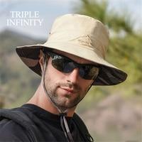 Neue Outdoor Sommer männer Eimer Hut doppelseitige Tragbare Angeln Hut Sun-proof Wasserdicht Atmungsaktiv Faltbare Männlichen panama Hut