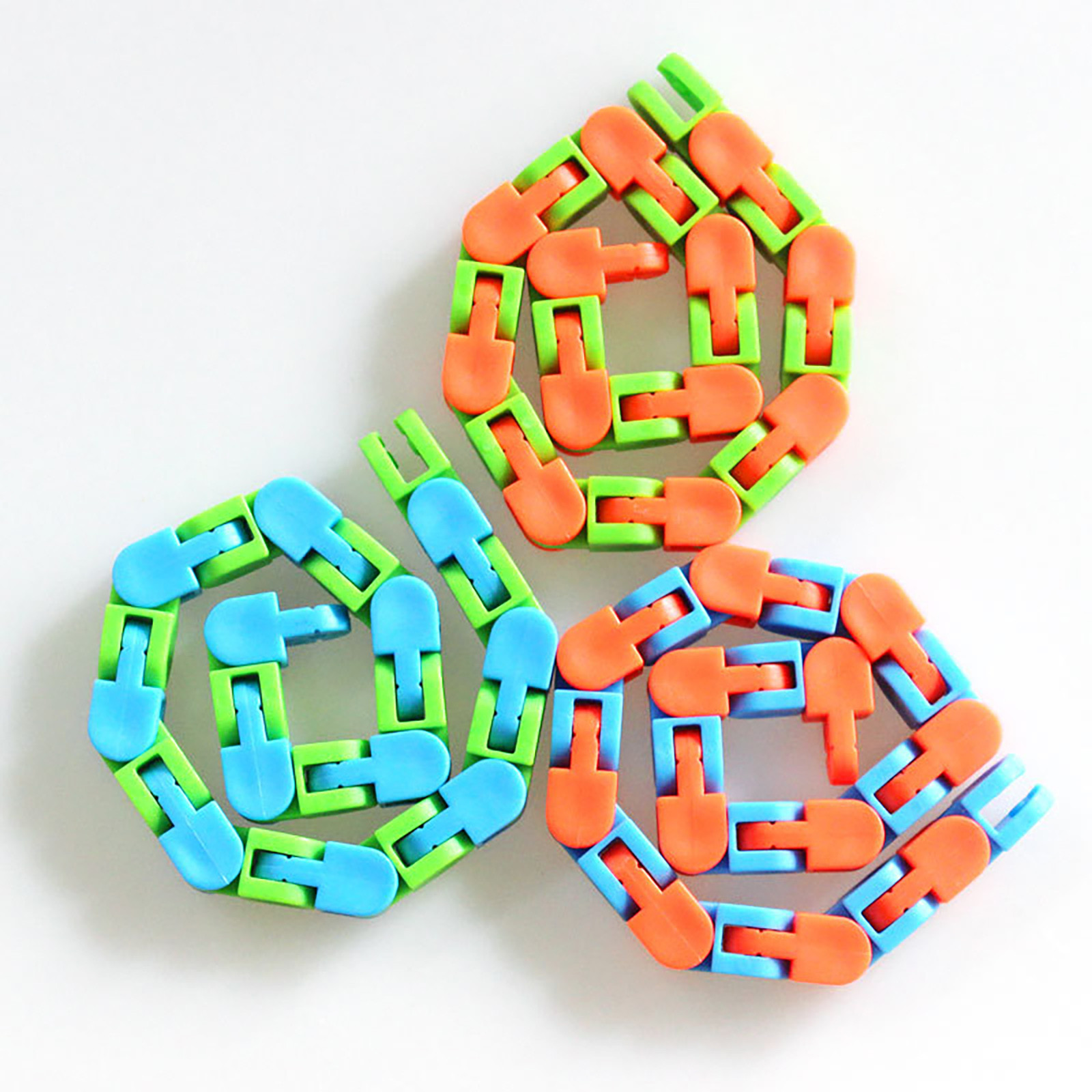 Sensory Toy Fidget-Toys Puzzle Autism Stress Snake Colorful Kids Relief-Rotate Classic img3