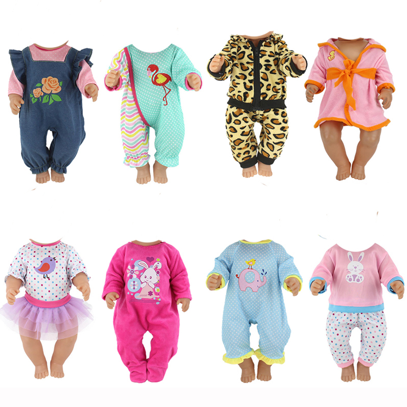 Doll Outfit Set For 18 Inch Baby Dolls Clothes For 18