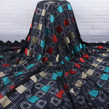 Najnowsza koronka afrykańska tkaniny wysokiej jakości nigerii dzień koronki tkaniny dziurkowany haft Swiss tkaniny z czystej bawełny do codziennego WearA1754