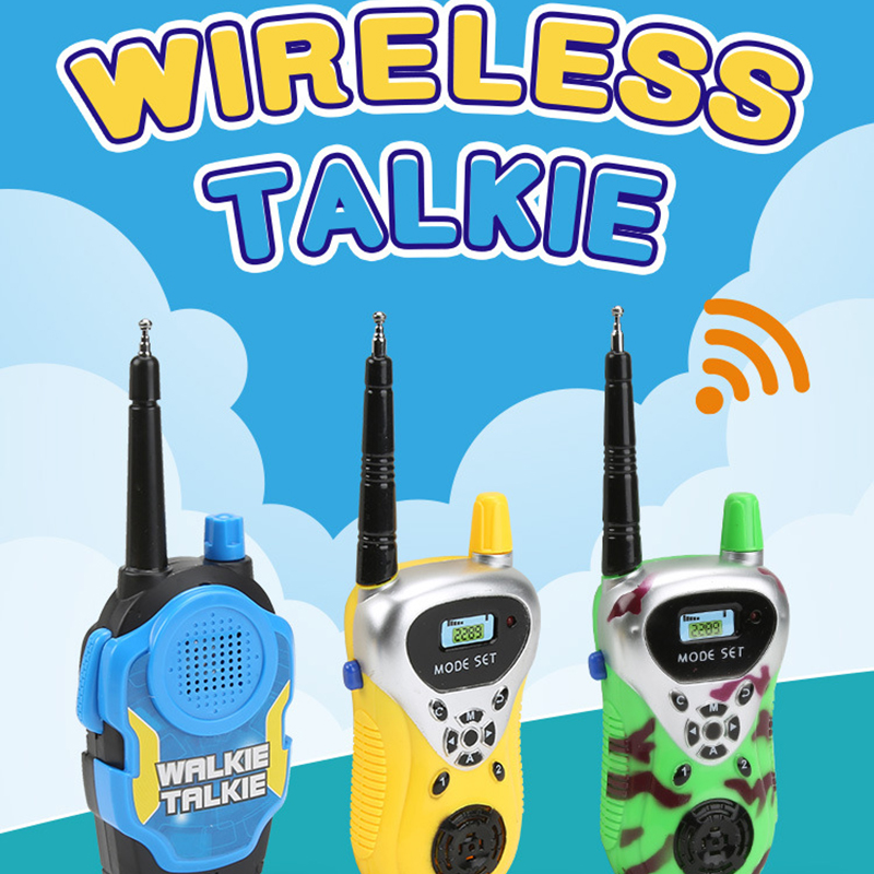 2pcs Baby Mini Walkie Talkie Toys Kids Pretend Play Interaction Toy Remote Radio Walkie Talkie <font><b>Children</b></font> Educatianal Toy Gift image
