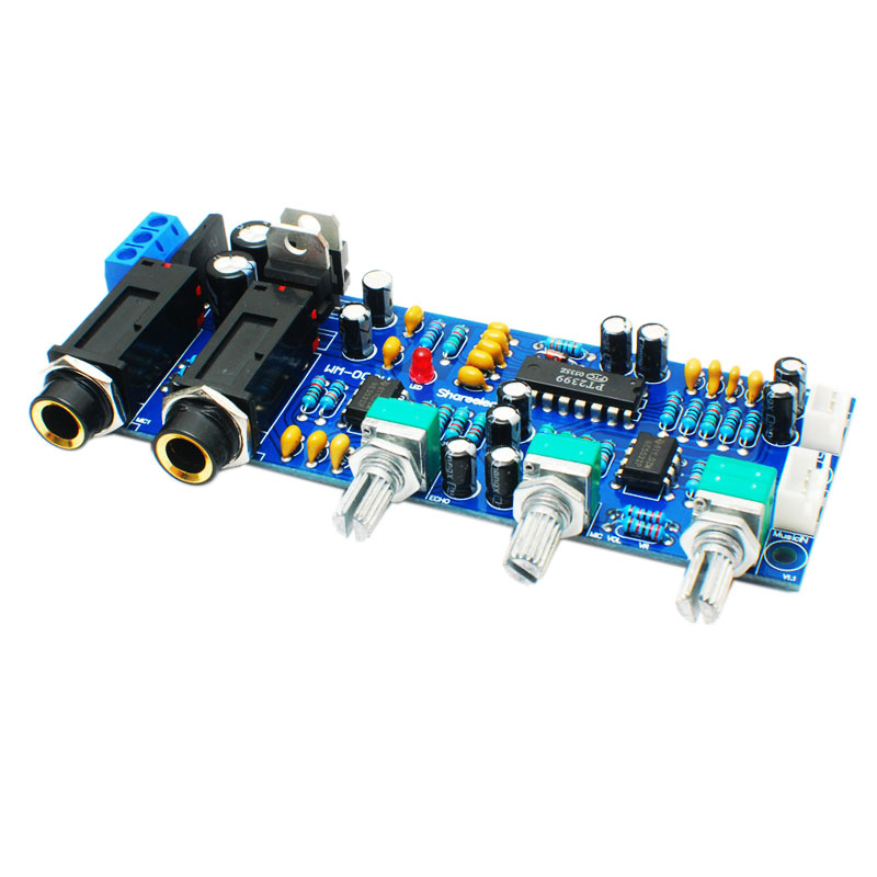 Hot 3C-Pt2399 Ne5532 Karaoke Board Microphone Amplifier Board Preamplifier Reverberation Echo Sound
