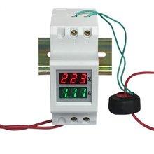 2p 36 мм din рейка светодиодный измеритель напряжения тока амперметр