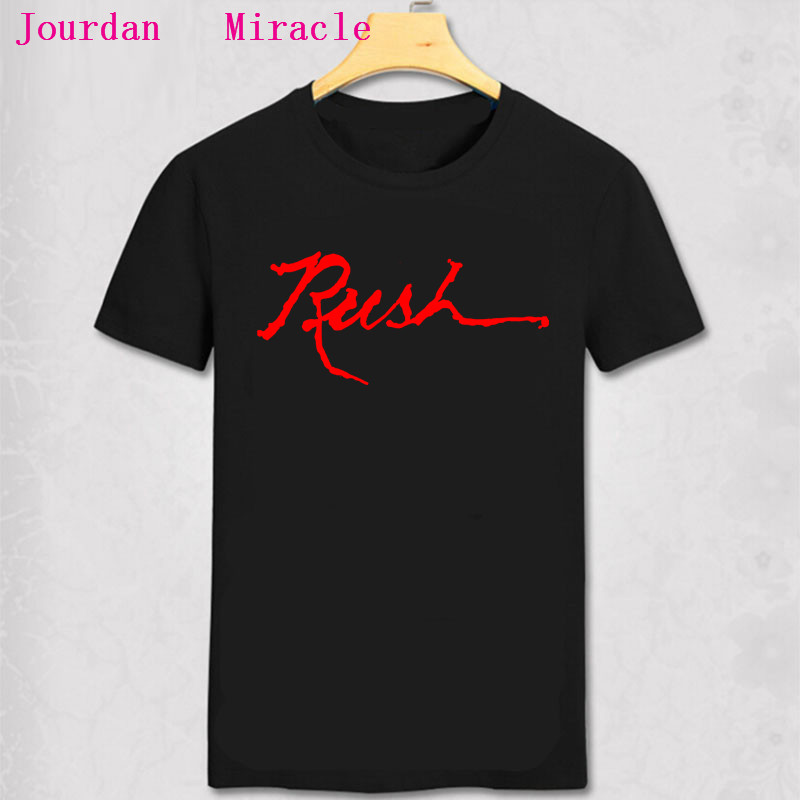RUSH Logo Print Black T Shirt New Official Band Merch Album Art Design Rush T Shirt Classic Rush letter printed cotton tee shirt image