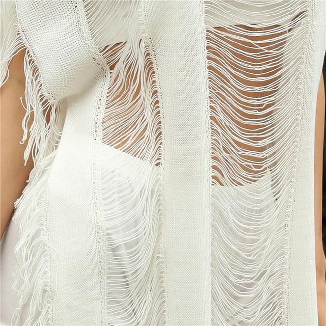 Sexy robe de plage femmes découpé plage couvrir Crochet transparent vêtements de plage gland Boho maillot de bain maillots de bain 2020 nouveau