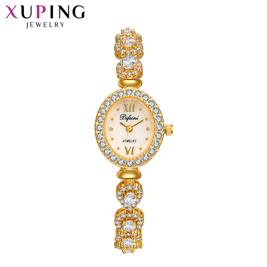 Xuping Synthetic Cubic Zirconia Watch Women Exquisite Shaped Trendy Gifts Colorful Luxulry Romantic Watch 00019