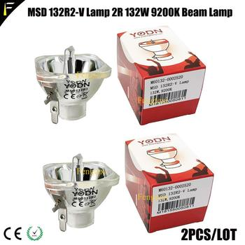 2 pièces/lot 2R/R2 132w Original YODN Pro Beam MSD lampe haute luminosité couleur blanche 8000K ampoule mobile tête légère petites lampes de faisceau
