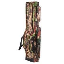 Blusea  Fishing Bag 120cm/150cm 3 Layers Portable Folding Fishing Rod Reel Bag Fishing Tackle Carry Bag Case Travel Storage Bag