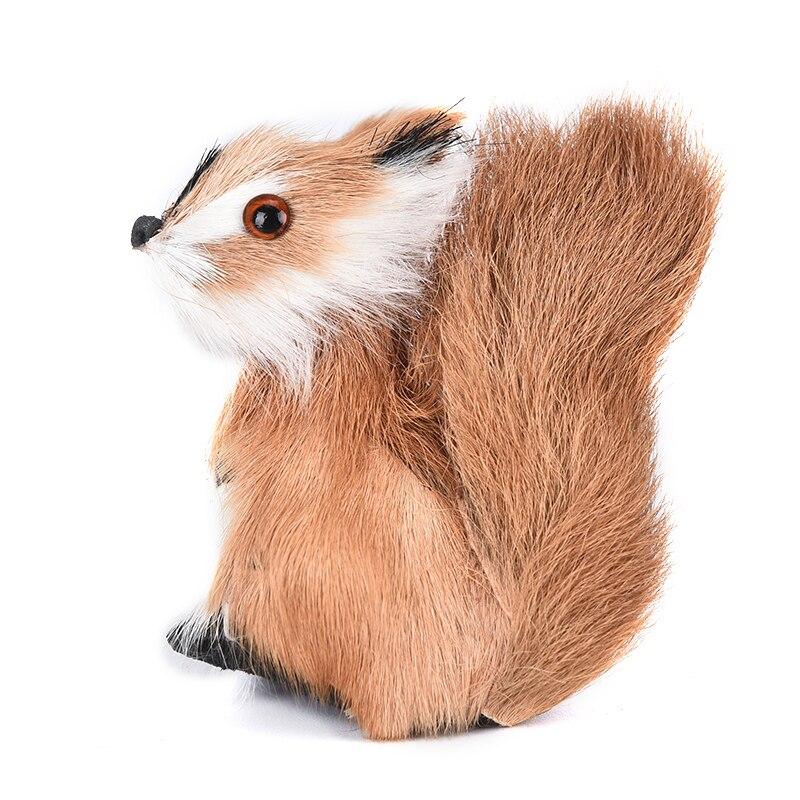 1 個のシミュレーション動物ぬいぐるみリスミニぬいぐるみリスぬいぐるみかわいい玩具置物ミニチュア家の装飾