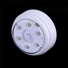 6 LED Lotus lamp night Light PIR Infrared IR Wireless Auto Sensor Motion  Detector Lamp Fashion Night Bedroom luminaria