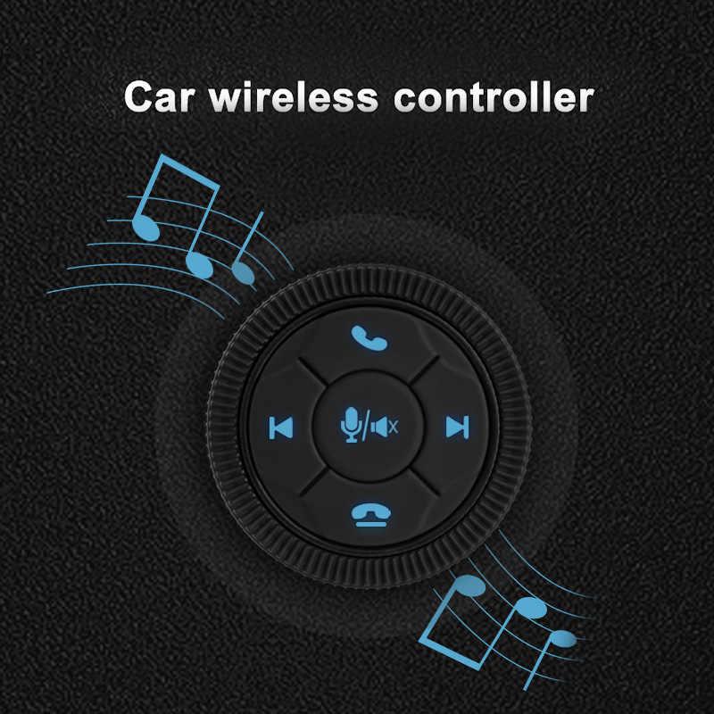 Eunavi Universal รถพวงมาลัย Controller 7Key ไร้สายพวงมาลัยรถวิทยุรีโมทคอนโทรลปุ่ม